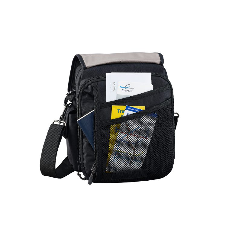 Travel Bag Documents Camera Caribee Global Organiser Black