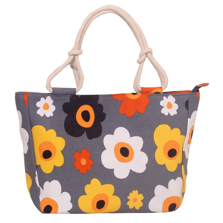 Beach Bag Tote Bag Travel Summer White Bay Ibiza Flowers