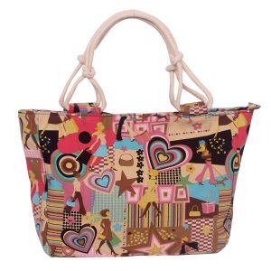 Beach Bag Tote Bag Travel Summer White Bay Ibiza Hearts