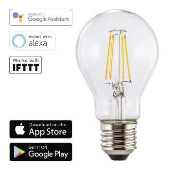 LED Bulb Smart Home WiFi HAMA E27 warm white