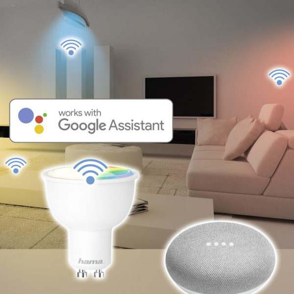 LED Bulb Smart Home WiFi HAMA GU 10 RGB