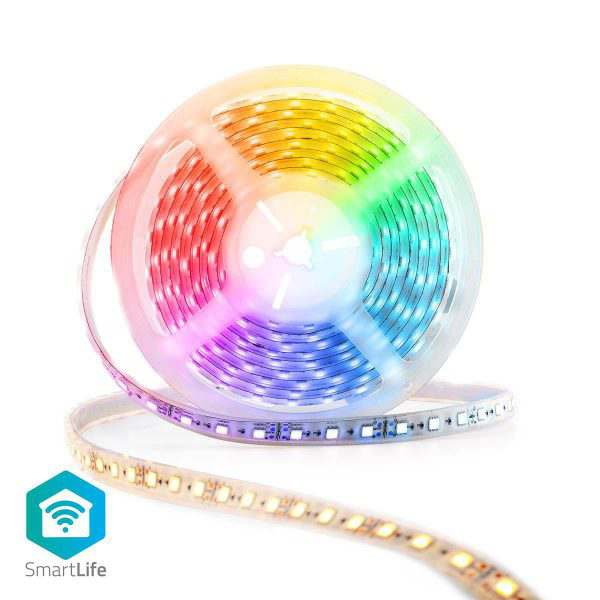 Smart WiFi LED White Multi Colour Strip Nedis
