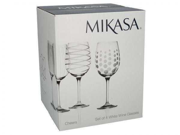 Design Glass Glassware Mikasa White Wine Cheers