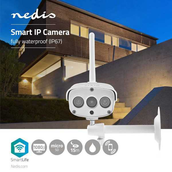 Smart WiFi IP Camera FULL HD Outdoor Nedis