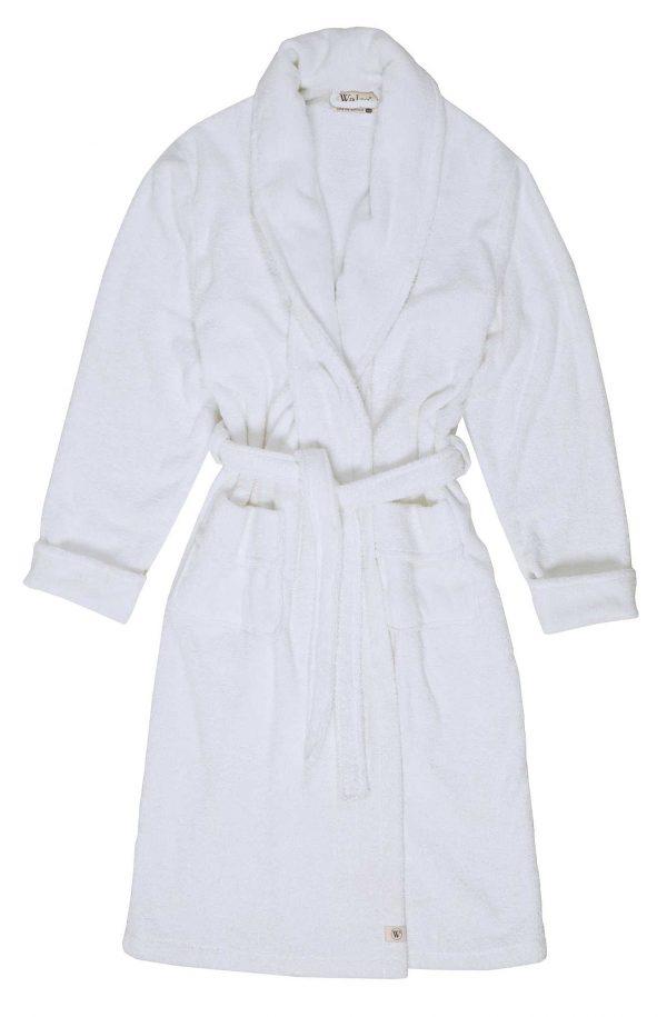 Bath Home Robe Cotton Comfortable Walra White