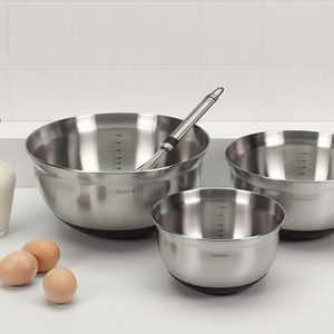Mixing Bowl Food Preparation Set Brabantia Steel