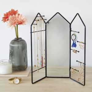 Jewelry Storage Frame Rack Mirror Balvi Gift