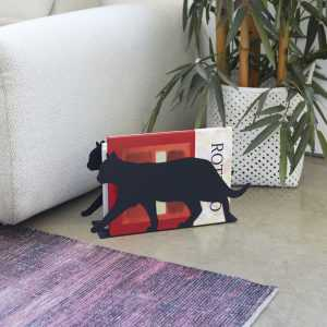 Magazine Rack Newspapers Design Cat Feline Balvi Gift