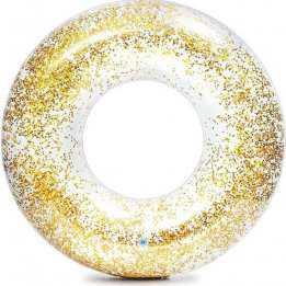Swimming Ring Floating Tube 107cm Glitter Intex Summer Gold