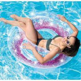 Swimming Ring Floating Tube 107cm Glitter Intex Summer