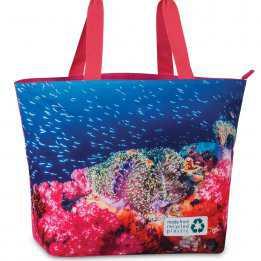 Beach Bag Durable 30 liters Fabrizio Coral Blue Pink