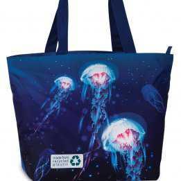 Beach Bag Durable 30 liters Fabrizio Jellyfish Dark Blue