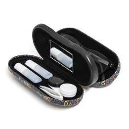 Glasses Contactlens Case Balvi Twin Black