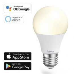 WiFi WLAN LED Smart Bulb E27 White HAMA
