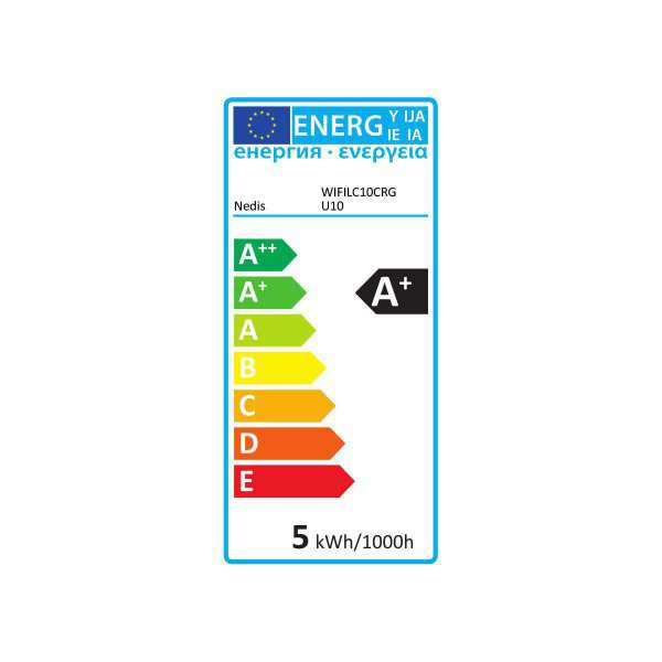 Smart LED Bulb Wifi GU10 330lm RGBW Colour Nedis