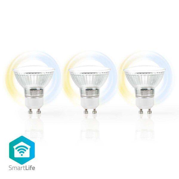 Smart LED Bulb Wifi GU10 400lm Warm White Cool Nedis