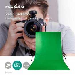 Photo Studio Backdrop Green 3 meter Nedis