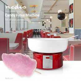 Candy Floss Retro Sugar Machine Nedis