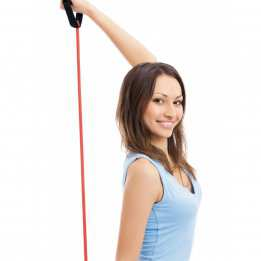 Resistance Tube Handles Sveltus Strong 130cm Red