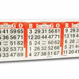 Bingo Card Sheets Longfield Games