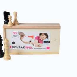 Wooden Chess Set Box Longfield Games