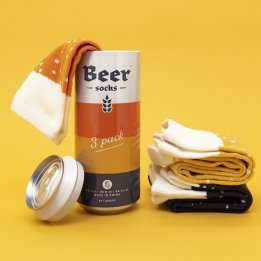 Beer Socks Set 3 pairs Luckies Beer Can