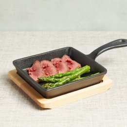 Serving Hot dish Cast Iron with Board Artesa