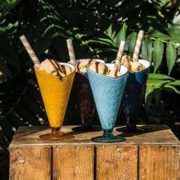 Ice Cream Dish Cone Set KitchenCraft Summer