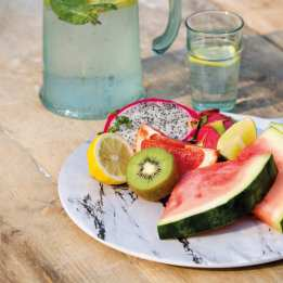 Food Platter Serving Summer Marble KitchenCraft