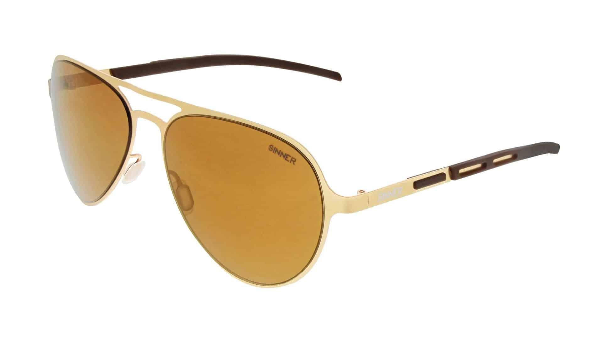 Sinner Gabriel Aviator Sunglasses Gold Summer Classic