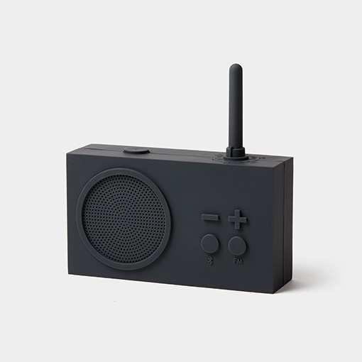 FM Radio Bluetooth Speaker Lexon Tykho 3 Black