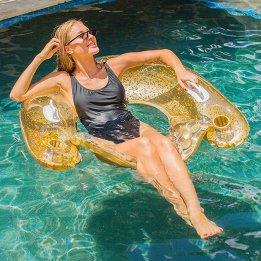 Beach Fun Floating Airbed Pool Intex Chair